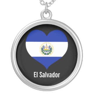 El Salvador heart necklace