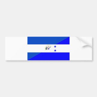 el salvador honduras half flag country symbol bumper sticker