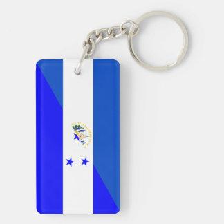 el salvador honduras half flag country symbol key ring