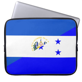 el salvador honduras half flag country symbol laptop sleeve