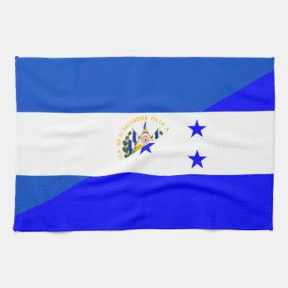 el salvador honduras half flag country symbol tea towel