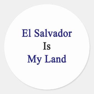 El Salvador Is My Land Stickers
