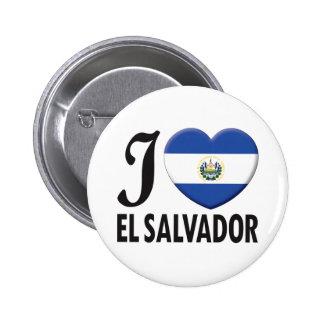 El Salvador Love Pinback Button