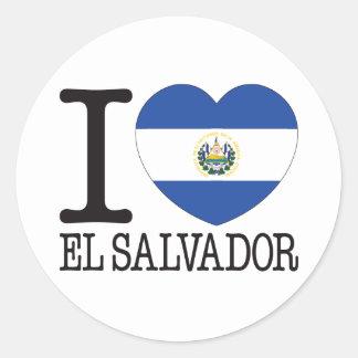 El Salvador Love v2 Round Sticker