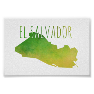 El Salvador Map Poster