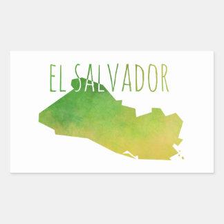 El Salvador Map Rectangular Sticker