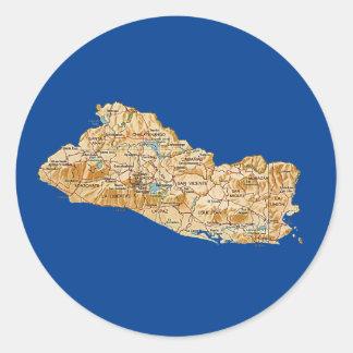 El Salvador Map Sticker