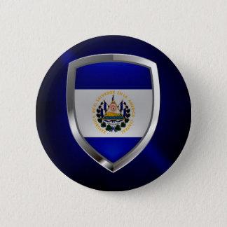 El Salvador Mettalic Emblem 6 Cm Round Badge