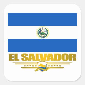 """""""El Salvador Pride"""" Square Sticker"""