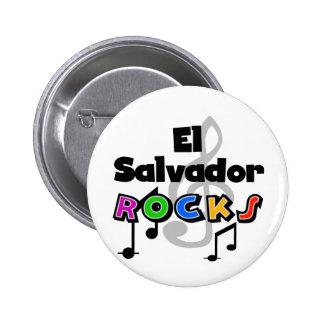 El Salvador Rocks Pinback Button