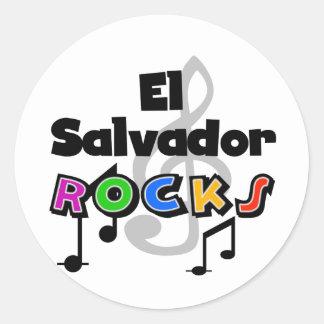 El Salvador Rocks Round Stickers