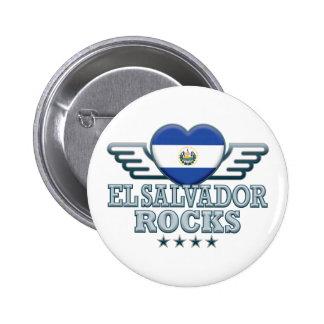 El Salvador Rocks v2 Pinback Button