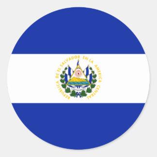 El Salvador Round Stickers