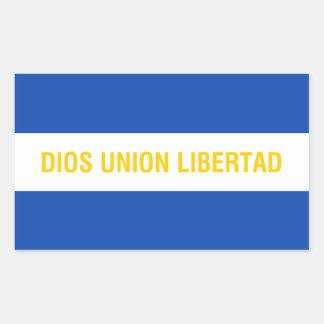 El Salvador/Salvadoran (Alternative) Ensign/Flag Rectangular Sticker