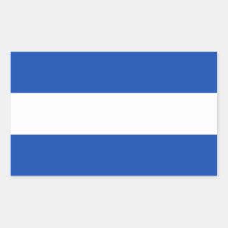 El Salvador/Salvadoran (Civil) Flag Rectangular Sticker