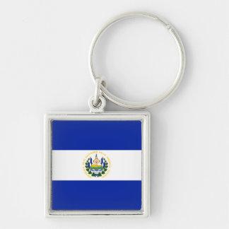 el salvador Silver-Colored square key ring