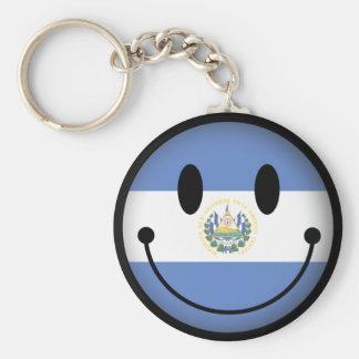 El Salvador Smiley Basic Round Button Key Ring