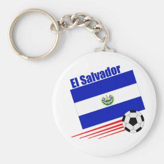 El Salvador Soccer Team Basic Round Button Key Ring