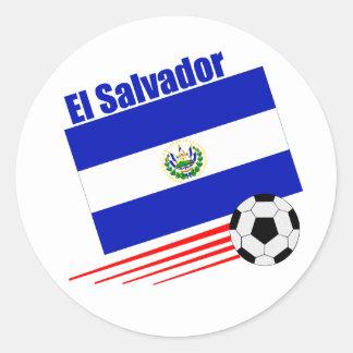 El Salvador Soccer Team Round Sticker
