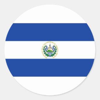El Salvador State Flag Round Sticker