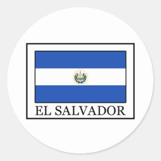 El Salvador Round Sticker