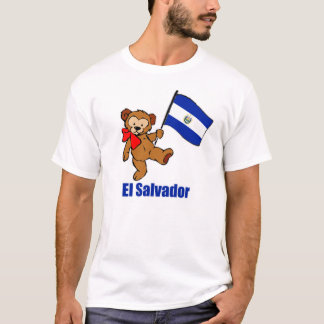 El Salvador Teddy Bear Dark T-Shirt