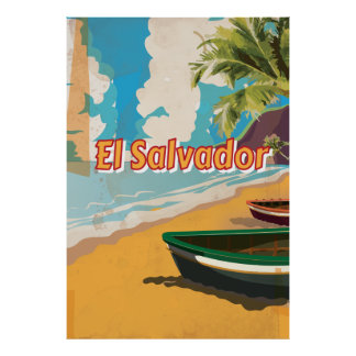 El Salvador  Vintage vacation Poster