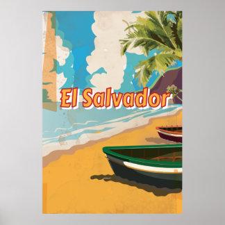 El Salvador  Vintage vacation Poster