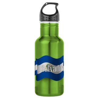 El Salvador Waving Flag 532 Ml Water Bottle