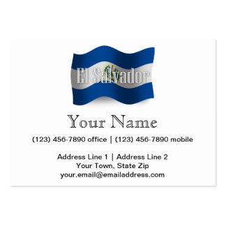 El Salvador Waving Flag Business Cards