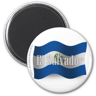 El Salvador Waving Flag Refrigerator Magnets