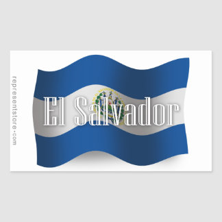 El Salvador Waving Flag Rectangular Sticker
