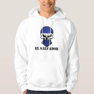 El Salvadorian Flag Skull El Salvador Hoodie