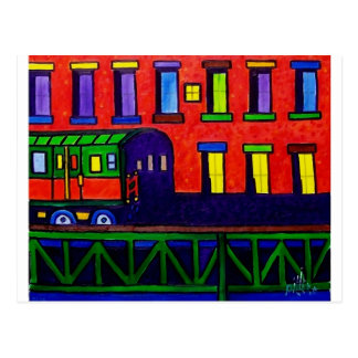 El Train Bronx Postcard