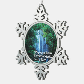 El Yunique Rainforest Snowflake Pewter Christmas Ornament