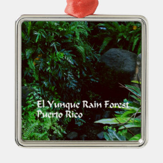 El Yunque Rain forest Metal Ornament