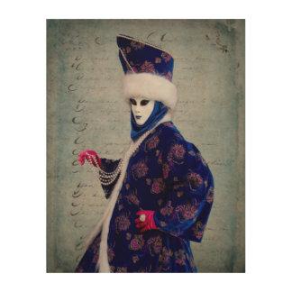 Elaborate Carnival Costume, Venice Wood Wall Decor