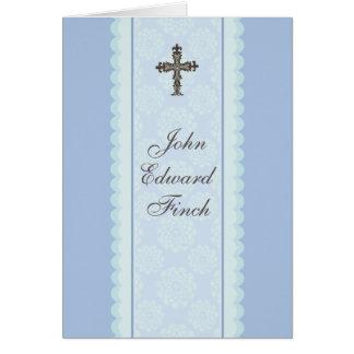 Elaborate Cross Religious Thank You Photo Card