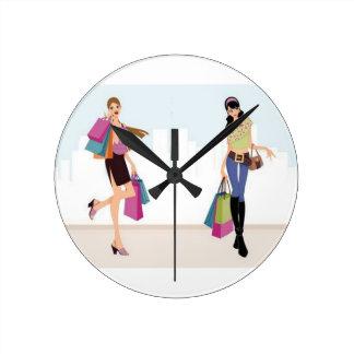 Elagant shopping ladies wall clocks