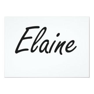 Elaine artistic Name Design 13 Cm X 18 Cm Invitation Card