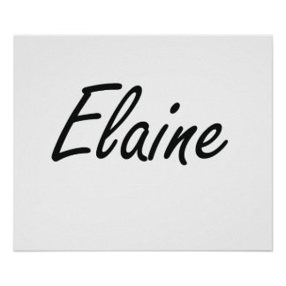 Elaine artistic Name Design Poster