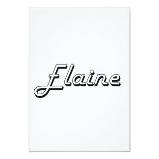 Elaine Classic Retro Name Design 9 Cm X 13 Cm Invitation Card
