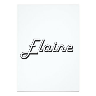 Elaine Classic Retro Name Design 13 Cm X 18 Cm Invitation Card