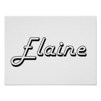 Elaine Classic Retro Name Design Poster