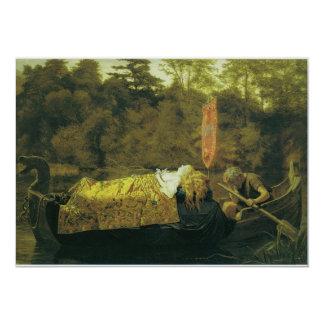 Elaine, or The Lily Maid of Astolat, 1870 13 Cm X 18 Cm Invitation Card