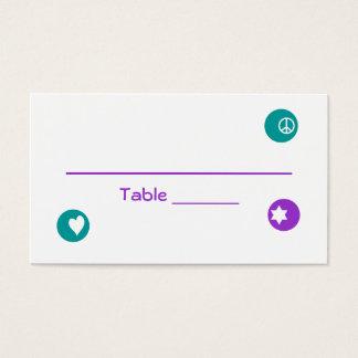 Elana Pearl Bat Mitzvah Table Card 099