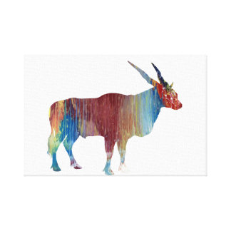 Eland antelope canvas print