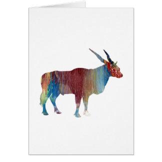 Eland antelope card