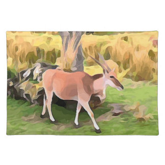 Eland Antelope from Safari Placemat