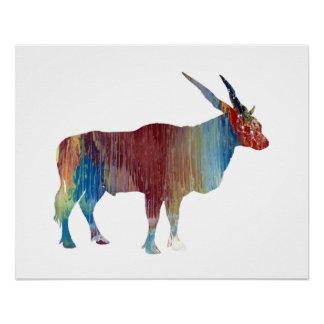 Eland antelope poster